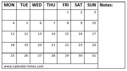May 2020 Blank Calendar Editable