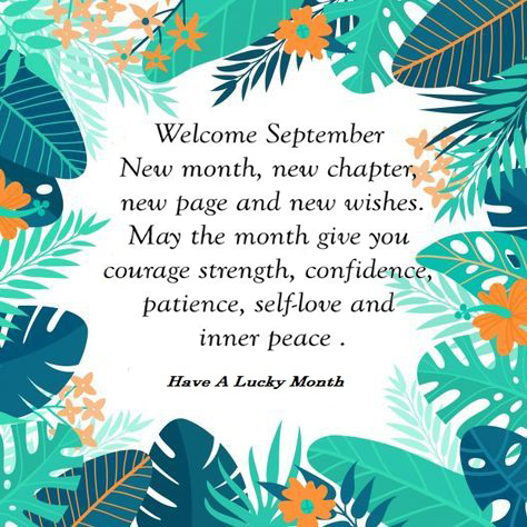 Hello September Quotes